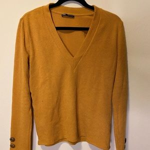 Mustard Yellow v-neck sweater